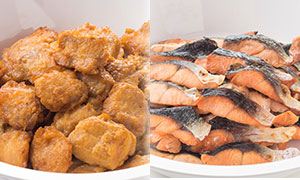 肉料理と魚料理